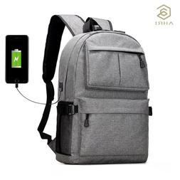 Mens Backpack Casual Rucksack Daypack Oxford Canvas Laptop F