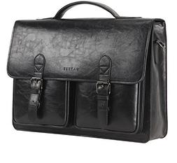 Banuce Mens Faux Leather Briefcase for Men Pu Business Tote