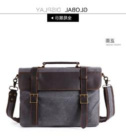 Mens Casual Vintage Satchel Messenger Man HandBag Laptop Bri