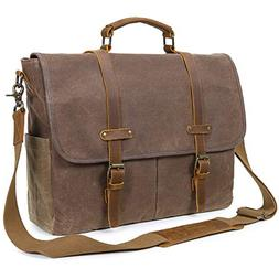 208af04a49 Lifewit Mens Messenger Bag 15.6 Inch Waterproof Vintage Genu