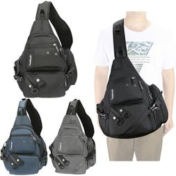 Mens Womens Laptop Large Sling Bag Backpack Chest Pack Trave