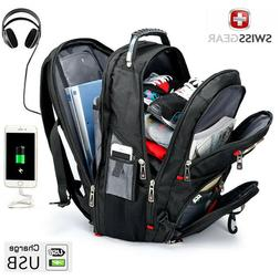 "SwissGear Multifunctional 17"" laptop backpack USB Charged Tr"