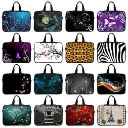 Neoprene Laptop Coumputer Sleeve Bag w Hidden Handle to Fit