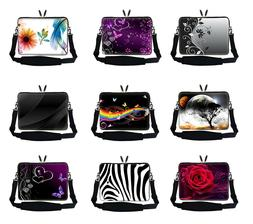 Neoprene Laptop Sleeve Bag w Hidden Handle & Shoulder Strap