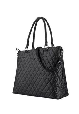 New, Black SOLO Classic Tote Women's Business Bag, Holds lap