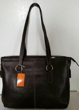 New  Latico Brown Leather Women's Briefcase Tote Laptop Bag
