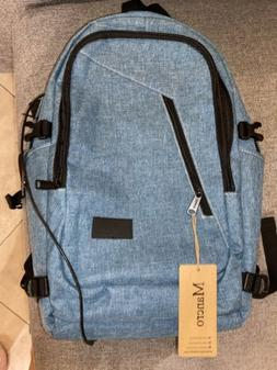 Mancro New Water Resistant Laptop 17in Backpack With USB Cha