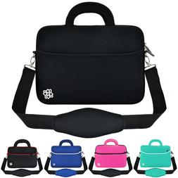 "15.6"" Neoprene Laptop Sleeve Padded Shoulder Strap Messenger"
