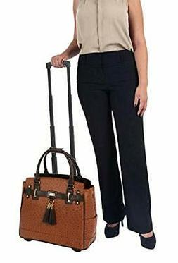 The Uptown Ostrich Computer iPad, Laptop Tablet Rolling Tote