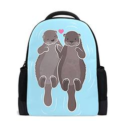 ALAZA Otter Couple Casual Backpack Waterproof Travel Daypack