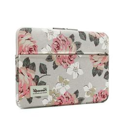 """White Rose Patten Laptop Sleeve 14 Inch 14.0 Case Bag Computers /"""" Accessories"""