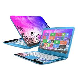 """MightySkins Protective Vinyl Skin Decal for HP Stream 14""""  w"""