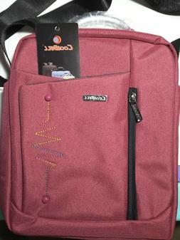Purple CoolBELL 12.4 Inches Convertible Laptop Bag W/Shoulde