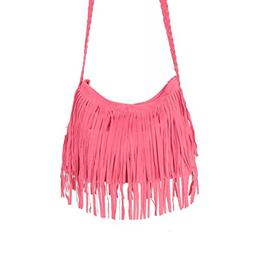 Retro Fringe Tassel Messenger Bag Women Hobo Shoulder Bag Cr