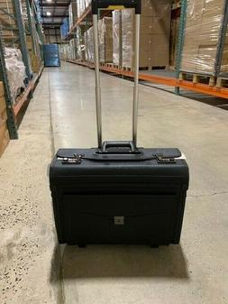 """Alpine Swiss Rolling 17"""" Laptop Briefcase on Wheels Attached"""