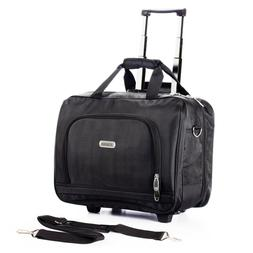 Rolling Briefcase on 2 Wheels Rolling Laptop Bag Rolling Com