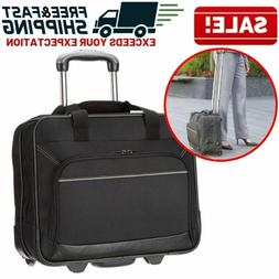 Rolling Wheeled Laptop Bag Computer Case Business Briefcase