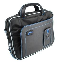 DURAGADGET Black And Blue Padded Laptop Bag / Case For NEW G