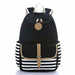 School Backpack,Student Canvas Bookbag Lightweight Laptop Ba