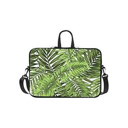 Seamless Tropical Jungle Palm Leaves Pattern Pattern Briefca