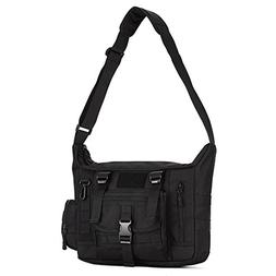 Huntvp Tactical Messenger Bag Shoulder Bag Cross Body Bag Be