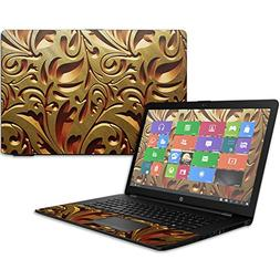 """MightySkins Skin for HP 17t Laptop 17.3""""  - Mosaic Gold Prot"""