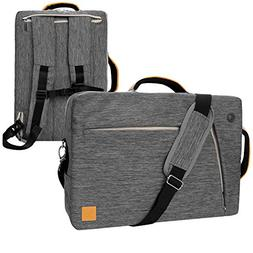 "VanGoddy Slate Gray Convertible Laptop Bag for 14"" to 15.6-i"