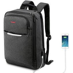 Kuprine Slim Lightweight Laptop Backpack with USB Charging a5b9a11aff043