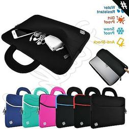 Slim Notebook Sleeve Carrying Case Cover Bag Handle for 15""