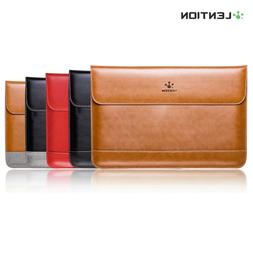 Slim Split Leather Sleeve Laptop Case Bag for MacBook Air/Pr