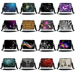 Soft Neoprene Laptop Notebook Sleeve Bag w. Shoulder Strap t