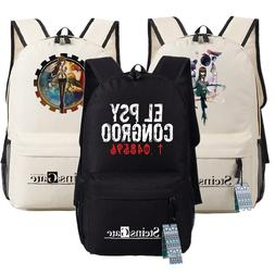 steins gate cosplay backpack students teenager font
