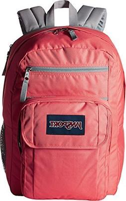JanSport Unisex Digital Student Coral Sparkle/White Dots One