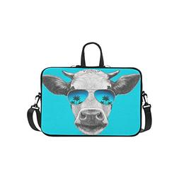 Summer Animal Cow Palm Tree Pattern Pattern Briefcase Laptop