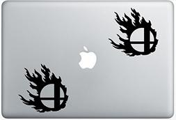 Super Smash Bros Flame ArcDecals78602708 Set Of Two  , Decal