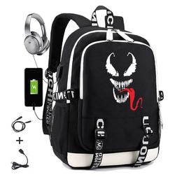 superhero venom usb charging font b backpack