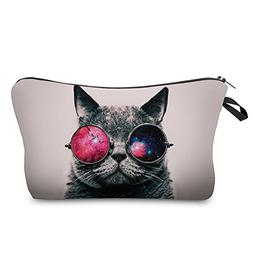 Makeup Toiletry Cosmetic Travel Carry Bag Zippered Luggage P