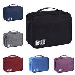 Travel Storage Bag USB Charger Case Data Cable Electronics O