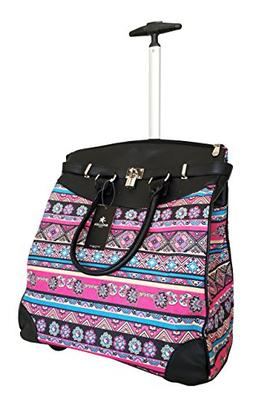 TrendyFlyer Computer/Laptop Rolling Bag 2 Wheel Case Tribal