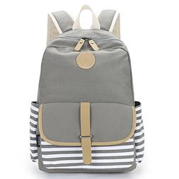 Upgraded Imyth Causal Canvas School Backpack Laptop Bag for