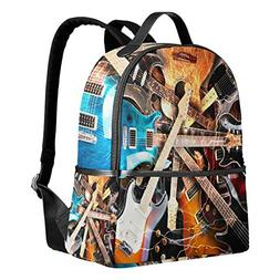 Use4 Electric Guitar Music Polyester Backpack School Travel