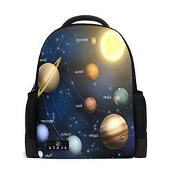 Use4 Planet Solar System Polyester Backpack School Travel Ba