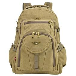 Dasein Sports Unisex Large Capacity Outdoor Vintage Canvas A