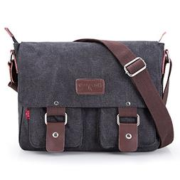 Bienna Vintage Canvas Messenger Bag Satchel Laptop Over Shou