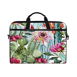 ALAZA Watercolor Cactus Tropical Flower 15 inch Laptop Case