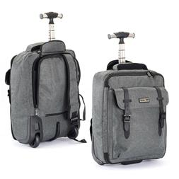 wheeled laptop backpack travel luggage organizer bag
