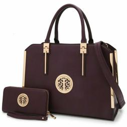 Women Handbags Top Handles Briefcase Tote Laptop Bag Work Pu