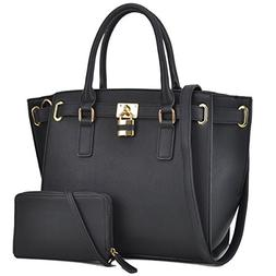 Women Large Vegan Leather Tote Bags Structured Work Bags Sho