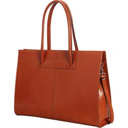 Sharo Leather Bags Women's Genuine Leather Laptop Tote Women