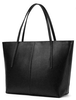 Women's Laptop Quality Genuine Leather Tote Shoulder Bag Pur